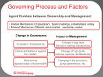 governing process and factors