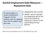 gainful employment debt measures repayment rate