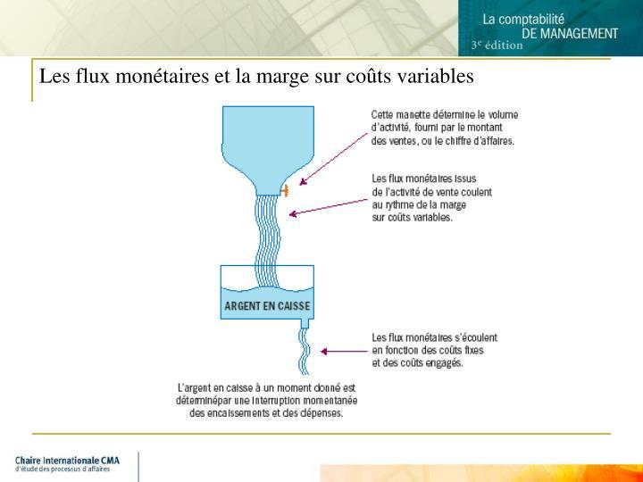 Les flux monétaires et la marge sur coûts variables
