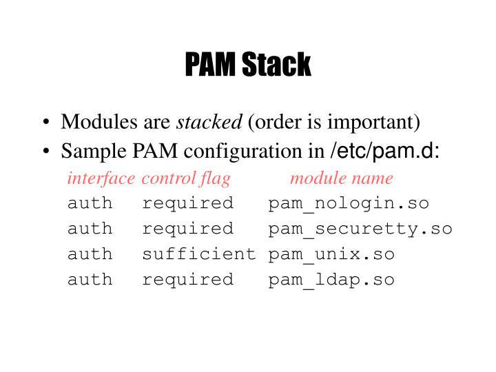 PAM Stack