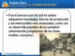 la modernizaci n