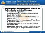 servicios p blicos e inversiones extranjeras
