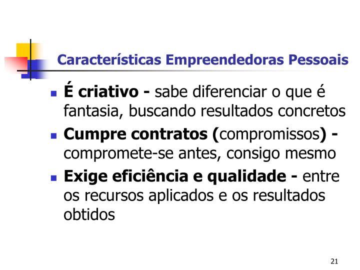 Características Empreendedoras Pessoais