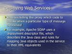 deploying web services