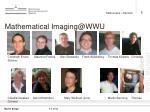 mathematical imaging@wwu