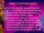 a arte expressionista