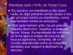 manifesto dad 1918 de tristan tzara