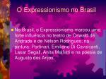 o expressionismo no brasil
