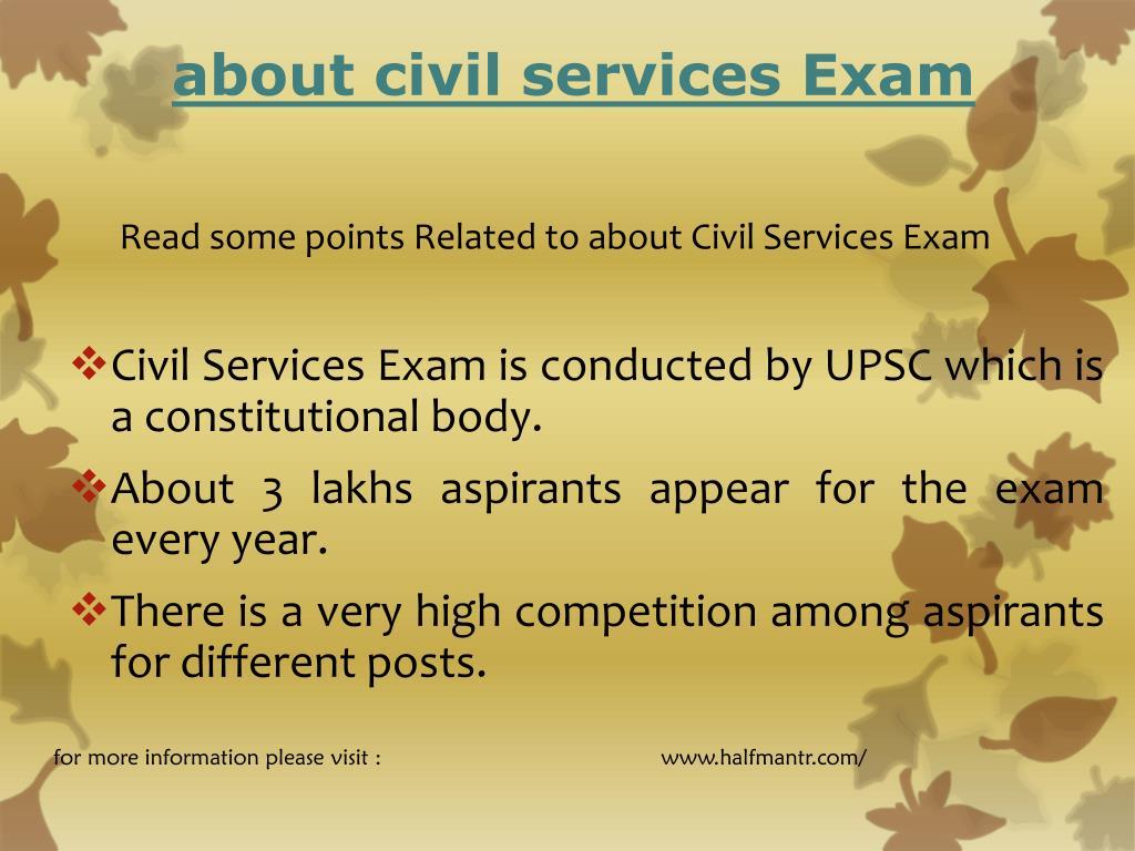 about civil services exam l.