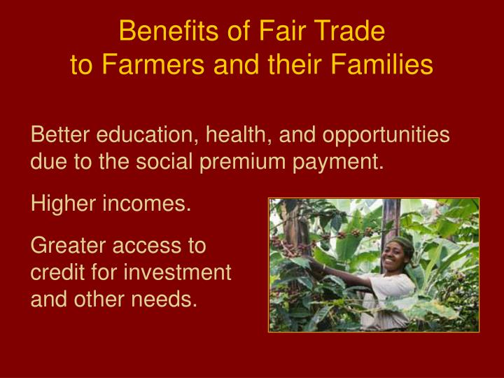 Benefits of Fair Trade
