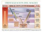 cristalizacion del magma