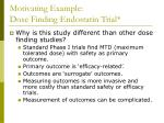 motivating example dose finding endostatin trial1