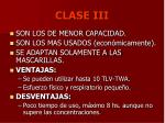 clase iii