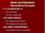 semi aut nomos normativa europea