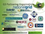 g3 partnering organizations