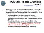 dla gfm process alternative to mca