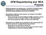 gfm requisitioning and mca process3