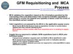 gfm requisitioning and mca process4
