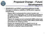 proposed change future development