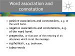 word association and connotation