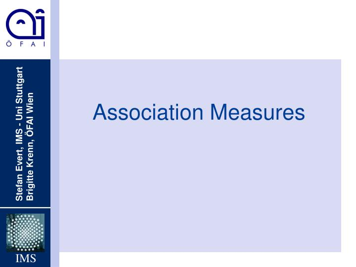 association measures n.