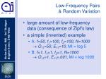 low frequency pairs random variation