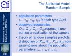 the statistical model random sample2
