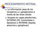 procesamiento retinal