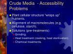 crude media accessibility problems