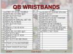 qb wristbands