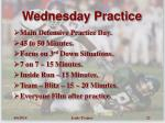 wednesday practice