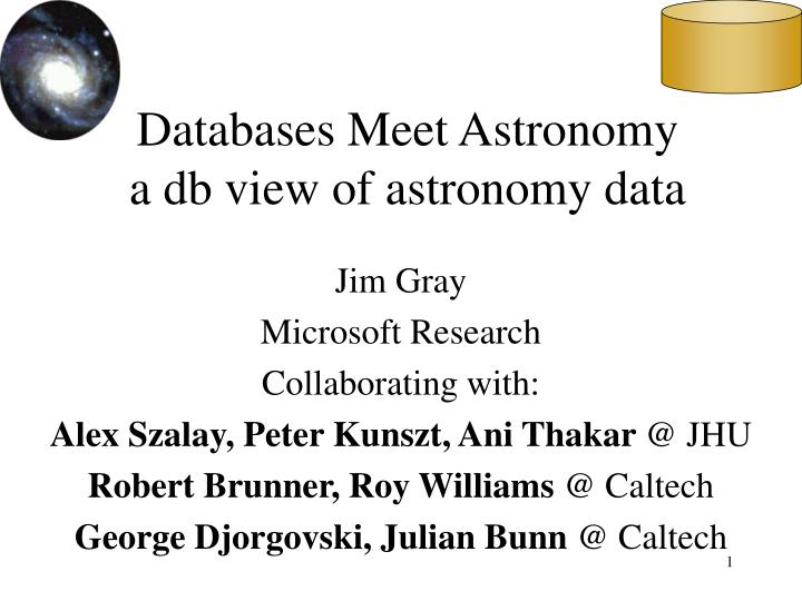 Databases meet astronomy a db view of astronomy data