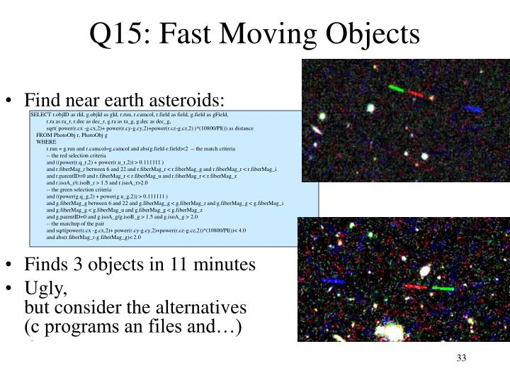 Q15: Fast Moving Objects