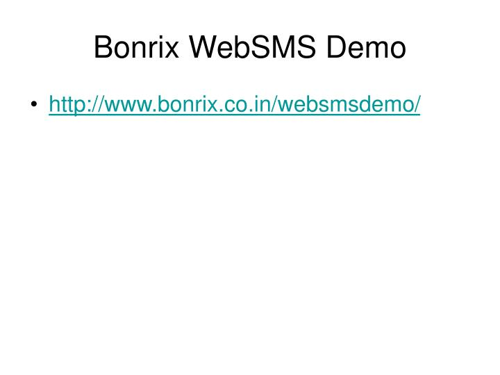 Bonrix WebSMS Demo