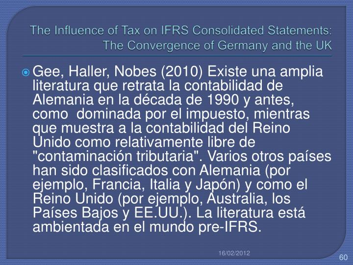 The Influence of Tax on