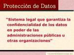 protecci n de datos