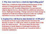 3 why does water have a relatively high boiling point