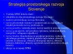 strategija prostorskega razvoja slovenije