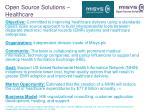 open source solutions healthcare