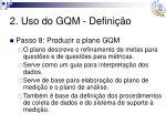 2 uso do gqm defini o11