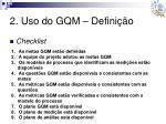 2 uso do gqm defini o15
