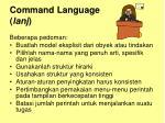 command language lanj