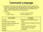 command language