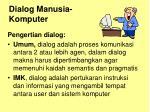 dialog manusia komputer