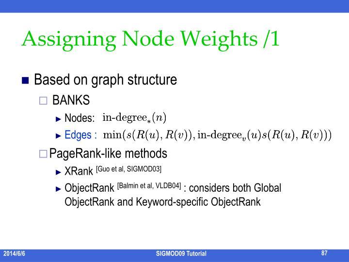 Assigning Node Weights /1