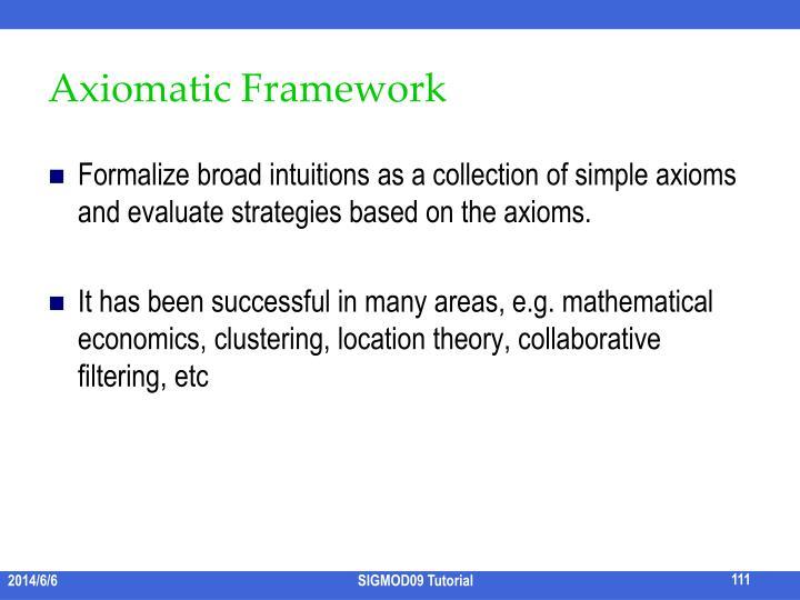 Axiomatic Framework