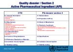 quality dossier section 2 active pharmaceutical ingredient api1
