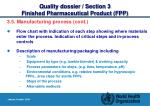 quality dossier section 3 finished pharmaceutical product fpp13