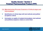 quality dossier section 3 finished pharmaceutical product fpp15