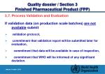 quality dossier section 3 finished pharmaceutical product fpp19